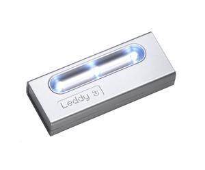 Lampada Leddy 3 alluminio by Giesse Technology - 11,5X4,5X2,5 cm