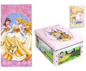 Telo mare in cotone con scatola Princess