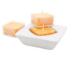 3 candele cristalline all' Orange&Lavender