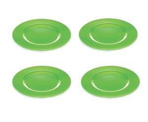 Set da 4 piatti in vetro verde I Radiosi - Ø 32 cm