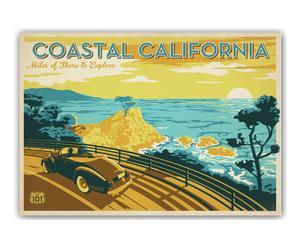 Stampa firmata da Joel Anderson CoastalCalifornia - 42X60 cm