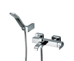 Miscelatore monocomando per vasca esterno con doccia klip