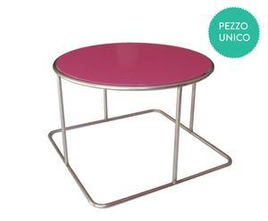 Tavolino Jolly rotondo by Enrico Buscemi e Piergiorgio Leone - rosa
