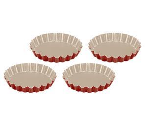 Set di 4 stampi per crostatite KERAMIA - Ø 12 cm