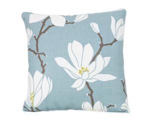 Cuscino in lino e cotone Pesco azzurro - 50x50 cm