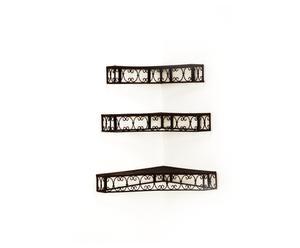 Set di 3 mensole angolari in ferro