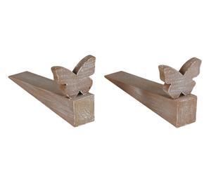 Set di 2 fermaporta Farfalla
