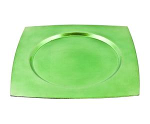 Sottopiatto in plastica PLAZA verde - 33X33 cm