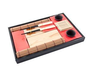 Set da sushi per 2 persone Bamboo - rosso