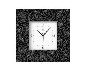 Orologio da parete in legno Venus nero - 48X48 cm