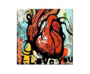 Stampa I love you - 40X40 cm
