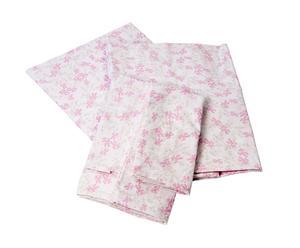 Parure copripiumino 2 piazze Romeo&Giulietta double face rosa