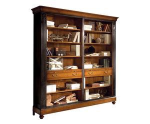 Libreria a giorno - legno + nero - 212X42X215 cm