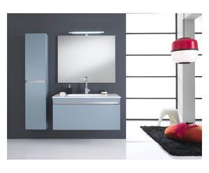 Composizione da parete di elementi per il bagno azzurro - 8 pz.