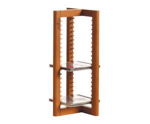 Porta cd in legno con 21 posti TOWER