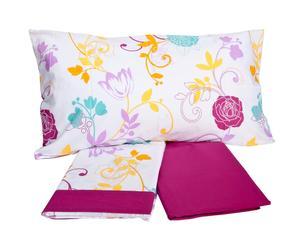 Completo di lenzuola per letto singolo Frida - malva