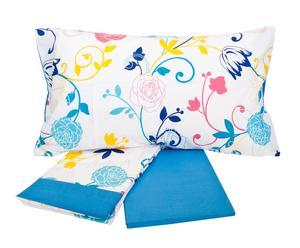 Completo di lenzuola per letto singolo Frida - turchese