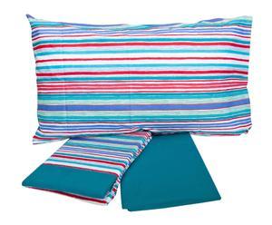 Completo di lenzuola per letto singolo Inspiration - verde petrolio