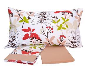 Completo di lenzuola per letto singolo Melody - nocciola
