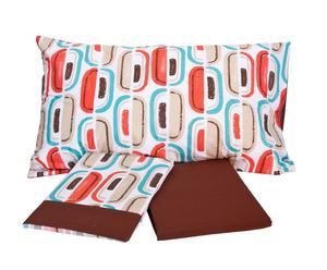 Completo di lenzuola per letto singolo Warhol - marrone