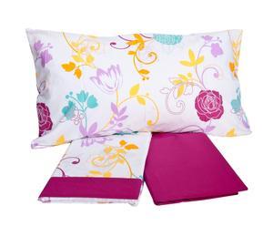 Completo di lenzuola per letto 1 piazza e 1/2 Frida - viola
