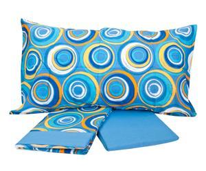 Completo di lenzuola per letto 1 piazza e 1/2 Daydream - cobalto