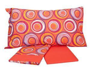 Completo di lenzuola per letto matrimoniale Daydream - pesca