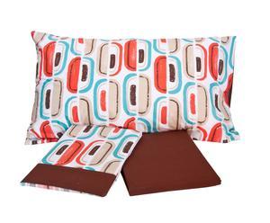 Completo di lenzuola per letto matrimoniale Warhol - marrone
