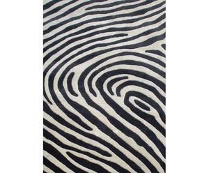 Tappeto in lana Doss grigio e bianco - 170X240 cm