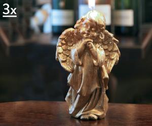Set di 3 candele Angelo - A 13 cm