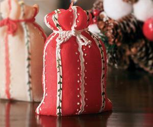 Candela decorativa Sacco rossa - A 13 cm