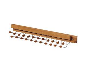 Portacravatte da anta in faggio massiccio con 23 gancini Red - 6x3x42 cm