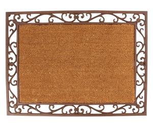 zerbino rettangolare in ghisa e cocco diana - 74x54x2,5 cm