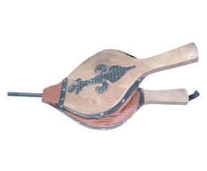Soffietto in legno con giglio in ferro - 40x3x18 cm