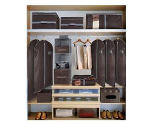set guardaroba grey&brown - 10 pezzi