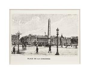 Stampa su cartoncino con passepartout Place De La Concorde - 40x30 cm