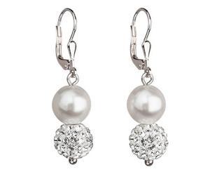 Coppia di orecchini con Perle Lux - white