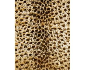 TAPPETO IN LEGNO STAMPATO THE CARPET ANIMALIER ORO  -  60X92 cm
