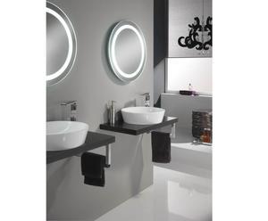 Set di 1 lavabo da parete con accessori wenge' - 5 pezzi