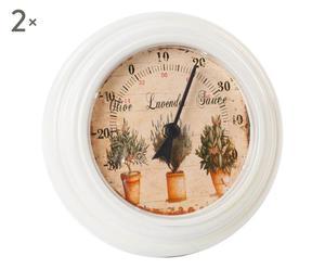 termometro da parete in metallo crema lavande - d 20 cm