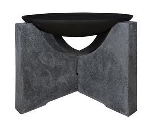Braciere in ghisa con base in granito Diomede - 68x68x46 cm