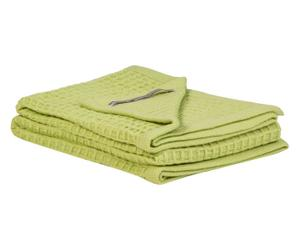 Copertina da culla in lana vergine SONNY BOY verde - 110x150 cm