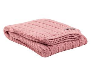 Copertina da culla in alpaca e misto lana TATTO rosa antico - 110X150 cm