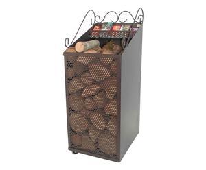 Carrello porta legna o pellet  - 35x93x44 cm