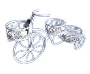 Triciclo decorativo in ferro con 3 vasi Portafiori jerome - 84x47x26 cm