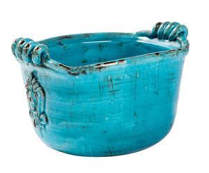 Catino in ceramica Classic Garden turchese - 30x17x23 cm