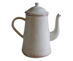 Caffettiera in ceramica fatina pois - 19x12x19 cm