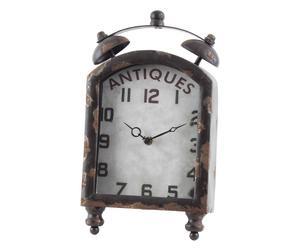 Orologio da tavolo in metallo antiques - 20x34x6 cm