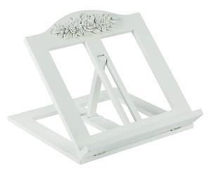 Leggio in legno e poliresina White Flowers - 30X29X6 cm