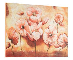 Dipinto su tela BEGONIE AL TRAMONTO - 90x120 cm
